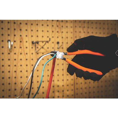 "6 1/4"" DIAGONAL PLIERS - ORANGE 