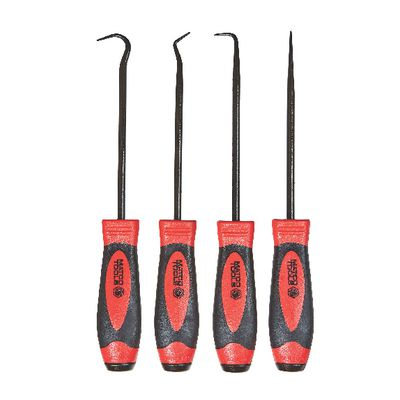 4 PIECE HOOK AND PICK SET, METAL CAP, RED | Matco Tools
