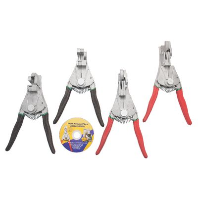 4 PIECE QUICK RELEASE PLIERS SET