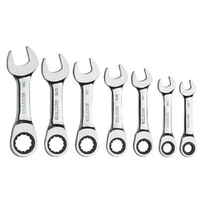 7 PIECE 72 TOOTH STUBBY COMBO SAE SET | Matco Tools
