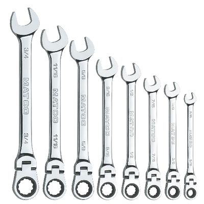 8 PIECE 72 TOOTH SAE FLEX RATCHETING WRENCH SET | Matco Tools