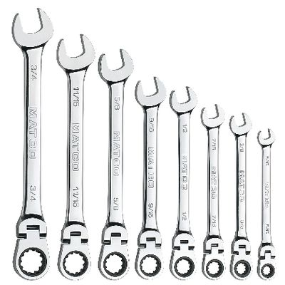 8 PIECE 90 TOOTH FLEX COMBO SAE SET | Matco Tools