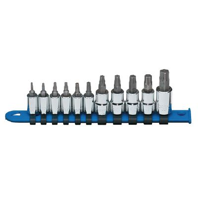 "1/4"" AND 3/8"" DRIVE 11 PIECE TORX PLUS BIT DRIVER SET 