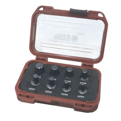 "8 PIECE 1/4"" DRIVE STUBBY TRIPLE SQUARE SET 