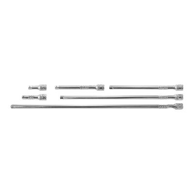 "6 PIECE 1/4"" DRIVE STANDARD EXTENSION CHROME SET 