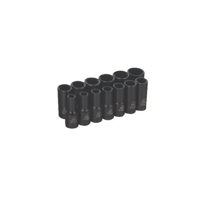 "3/8"" DRIVE ADV 13 PIECE 6 POINT INTERMEDIATE METRIC IMPACT SOCKET SET 
