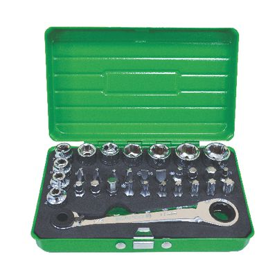 31 PIECE LOW PROFILE TOOL KIT - GREEN | Matco Tools