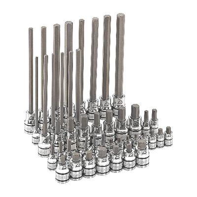 "1/4"" AND 3/8"" DRIVE 46 PIECE ADV MASTER HEX BIT SOCKET SET 