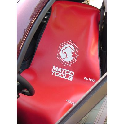 SEAT COVER RED AND WHITE LOGO | Matco Tools