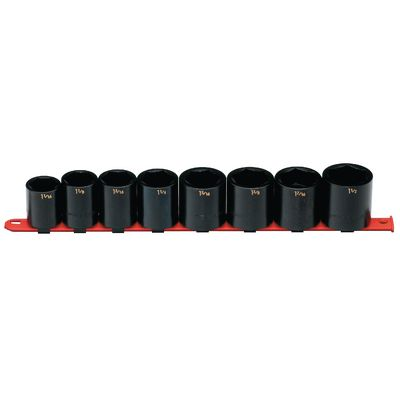 "1/2"" DRIVE 8 PIECE SAE 6 POINT IMPACT SOCKET SET 