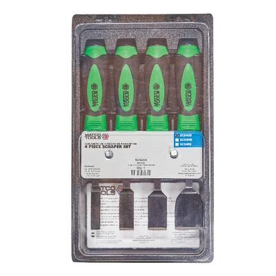 "4 PIECE 10"" LONG SCRAPER SET - GREEN 