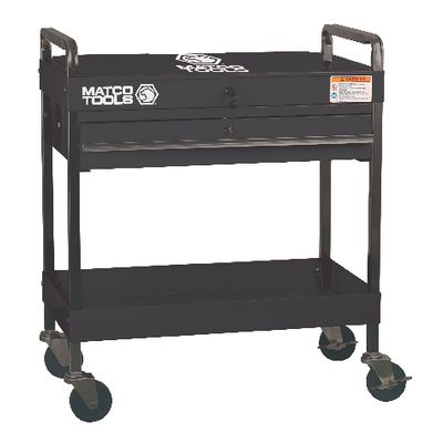SINGLE DRAWER SERVICE CART WITH LID - BLACK | Matco Tools