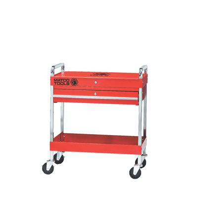 SINGLE DRAWER SERVICE CART WITH LID - RED | Matco Tools