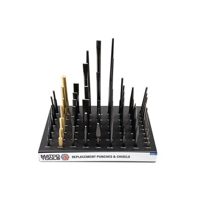 57 PIECE PUNCH & CHISEL WITH DISPLAY | Matco Tools