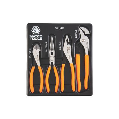 4 PIECE UNIVERSAL PLIERS SET - ORANGE | Matco Tools