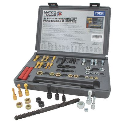 51 PIECE RETHREADING TAP & DIE SET | Matco Tools