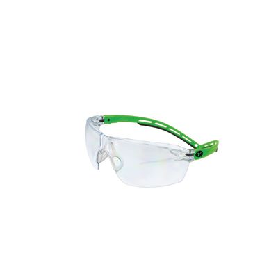 VERATTI® LITE™ SAFETY GLASSES, GRAY & GREEN FRAME WITH CLEAR LENS | Matco Tools