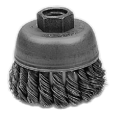 "2-3/4"" DIAMETER KNOT WIRE CUP BRUSH 